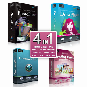 Serif Complete Creativity Suite 2 - PhotoPlus X4, DrawPlus 4, Panorama X4 & Greeting Cards