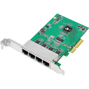 SIIG 4-Port Gigabit Ethernet PCIe - 4 x Network (RJ-45) - Twisted Pair