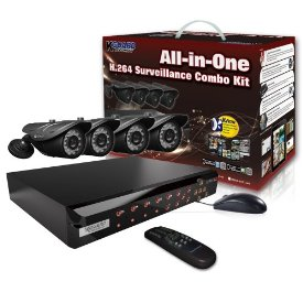 4CHANNEL H.264 DVR WITH 4CCD CAM 500GB 24 LED KIT