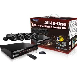 8CHANNEL H.264 DVR WITH 4CCD CAM 500GB 24 LED KIT