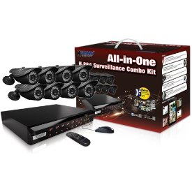 8CHANNEL H.264 DVR WITH 8CCD CAM 500GB 24 LED KIT