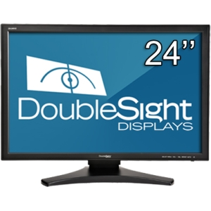 "DoubleSight Displays DS-245V2 24"" LCD Monitor - 16:10 - 5 ms - Adjustable Display Angle - 1920 x 1200 - 16.7 Million Colors - 400 Nit - 1,000:1 - Speakers - DVI - VGA - Black - TAA"