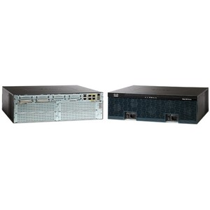Cisco 3945 Integrated Services Router - 2 x CompactFlash (CF) Card, 2 x SFP (mini-GBIC), 4 x PVDM, 4 x HWIC, 5 x Services Module - 3 x 10/100/1000Base-T WAN