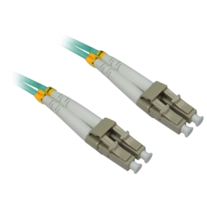 4XEM Fiber Optic Duplex Patch Cable - Fiber Optic for Network Device - 49.21 ft - 2 x LC Male Network - 2 x LC Male Network - Aqua Blue