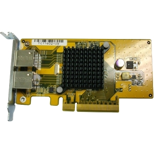QNAP 10Gigabit Ethernet Card - 2 x Network (RJ-45) - Twisted Pair - Low-profile