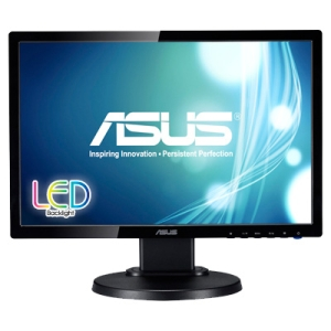 "Asus VE198TL 19"" LED LCD Monitor - 16:9 - 5 ms - Adjustable Display Angle - 1440 x 900 - 16.7 Million Colors - 250 Nit - 10,000,000:1 - Speakers - DVI - VGA - Black"
