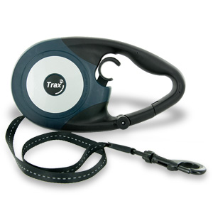 Trax Ergo 16Ft Retractable Large Dog Leash - Dark Blue/Black