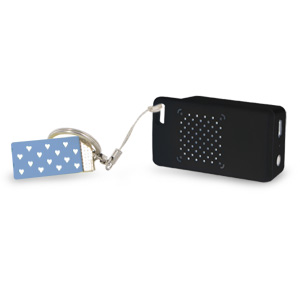 Rechargeable Mini Portable Keychain Speaker - Connect & Enjoy Your Music Anywhere! (Black)