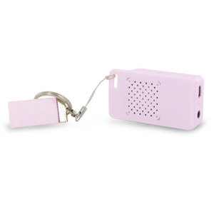 Rechargeable Mini Portable Keychain Speaker - Connect &amp; Enjoy Your Music Anywhere!  (Pink)