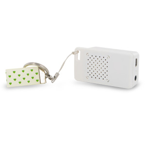 Rechargeable Mini Portable Keychain Speaker - Connect & Enjoy Your Music Anywhere! (White)