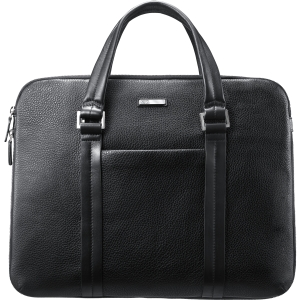 Samsung AA-BC4N14B Carrying Case (Briefcase) for 15&quot; Notebook - Black - Italian Leather