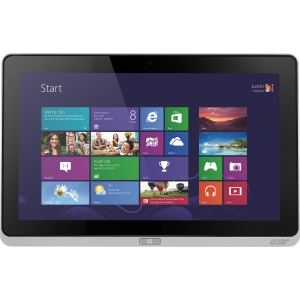 Acer ICONIA W700-53314G12as 11.6&quot; Tablet PC - Wi-Fi - Intel Core i5 i5-3317U 1.70 GHz - LED Backlight - Multi-touch Screen 1920 x 1080 Full HD Display - 4 GB RAM - 128 GB SSD - Intel HD 4000 Graphics - Bluetooth - Genuine Windows 8 - 9 Hour Battery - HDMI