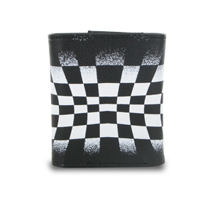 Trifold Black and White Checkerboard Wallet