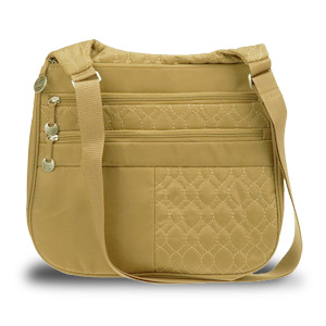 Travelon New Travelon Quilted Nylon Multi Pocket Shoulder Bag (Tan) at Sears.com