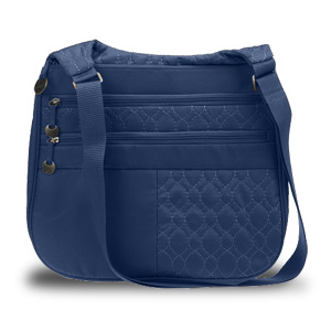 Travelon New Travelon Quilted Nylon Multi Pocket Shoulder Bag (Navy) at Sears.com