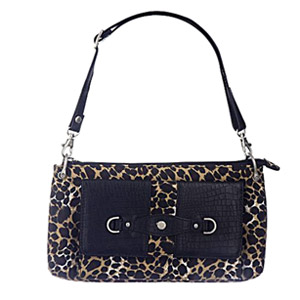 Travelon Microfiber Mini Shoulder Bag - Leopard