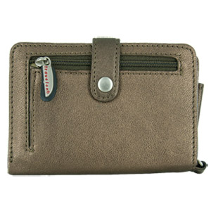 Travelon New Travelon Leather Wallet/Wristlet in One (Bronze) at Sears.com