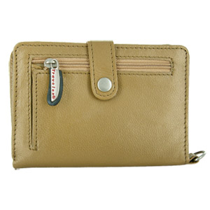Travelon Leather Wallet/Wristlet in One (Gold) at Sears.com