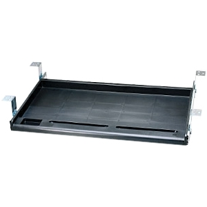 Image of Aidata Standard Under-Desk Keyboard Tray - Black