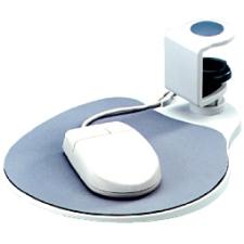 Image of Aidata Under Desk Swivel Mouse Platform - White