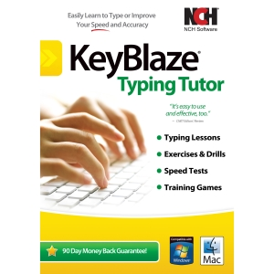 NCH Software KeyBlaze with FastFox Text Expansion Software - Typing Tutor - PC, Mac