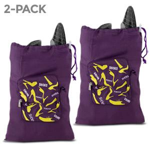 2 Pack - Travelon Pocket Packs Shoe Bag