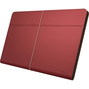 Sony SGP-CV5 Carrying Case (Cover) for Tablet - Red - Genuine Leather