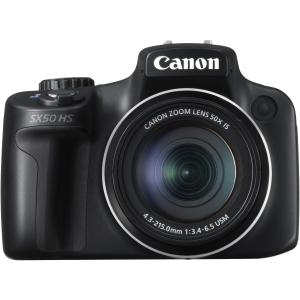 Canon PowerShot SX50 HS 12.1 Megapixel Bridge Camera - Black - 2.8 LCD - 50x Optical Zoom - Optical (IS) - 4000 x 3000 Image - 1920 x 1080 Video - HDMI - PictBridge - HD Movie Mode