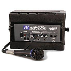 AmpliVox SS1230 Mity Box 50-Watt Powered Speaker with Wired Microphone