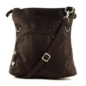 Travelon Quilted Fold-Over Shoulder Bag (Brown)