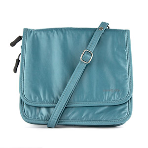 Travelon Safe ID Hack-Proof Expandable Cross-Body Bag with RFID Blocking (Teal)
