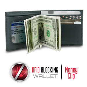 Safe ID Ripstop Money Clip Wallet with RFID Blocking, Black