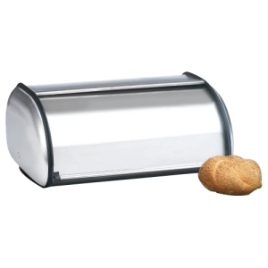 Image of Anchor Brushed Steel Bread Box - Euro Design - Bread Box