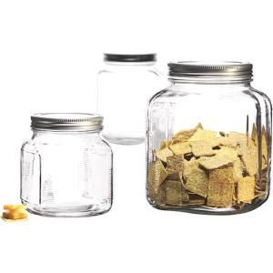 Image of Anchor Hocking 3 Pc Cracker Jar Set