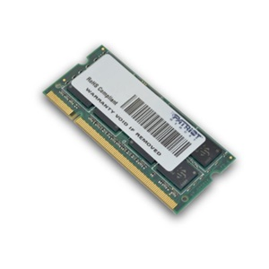 Patriot Signature DDR2 4GB CL5 PC2-6400 (800MHz) SODIMM - 4 GB - DDR2 SDRAM - 800 MHz DDR2-800/PC2-6400 - Non-ECC - Unbuffered - 200-pin - SoDIMM