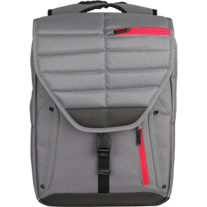 Samsill Altego Channel Stitched Ruby Carrying Case (Backpack) for 17 Notebook - Gray, Red - Poly 36301