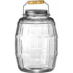 Image of Anchor Barrel Jar - 10 quart Jar - Glass, Metal