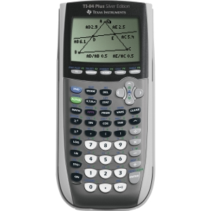 Texas Instruments TI-84 Plus Silver Edition Graphing Calculator - 8 Line(s) - 16 Character(s) - Battery Powered - 3.5 x 7.3 x 1 - Silver