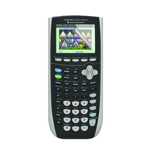 Texas Instruments TI-84 Plus C Silver Edition Graphing Calculator - 12 Character(s) - Battery Powered