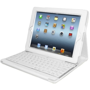Adesso Compagno 3 Keyboard/Cover Case for iPad - Faux Leather