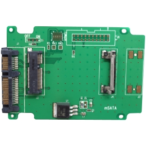 Image of Aleratec 50mm mSATA SSD to SATA Adapter (2 Pack)