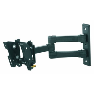 Image of AVF Nexus Eco-Mount EL104B Multi Position Dual Arm TV Mount - 33 lb - Black
