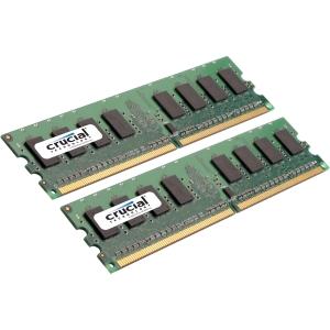 Crucial 4GB Kit DDR2 PC2-6400 Unbuffered ECC 1.8V 256Meg x 72 Memory Module