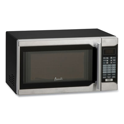 Image of 0.7 Cu.ft Capacity Microwave Oven 700 Watts Stainless Steel and Black