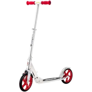 Click here for Razor A5 Lux Kick Scooter - Silver/Red prices