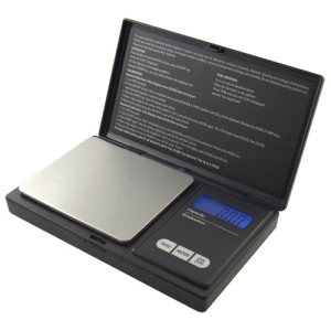 Image of American Weigh American Weigh Scales AWS-600-BLK Digital Personal Nutrition Scale Pocket Size Black