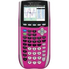 Texas Instruments TI-84 Plus C Silver Edition Graphing Calculator - 14 Character(s) - LCD - Battery Powered - Pink