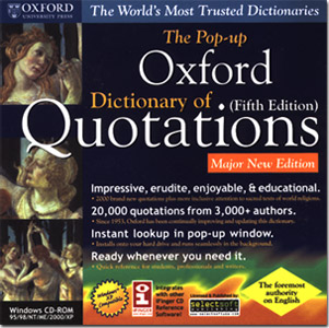 Oxford Dictionary of Quotations Fifth Edition