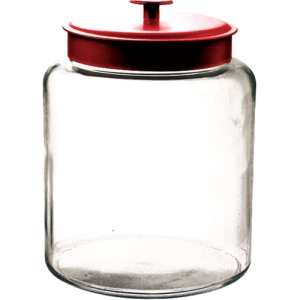 Image of Anchor 2 Gal Montana Jar With Red Lid