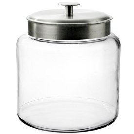 Image of Anchor Hocking 1.5 Gallon Montana Jar with Silver Metal Lid